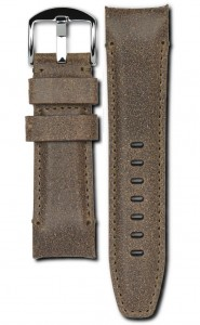 Everest Panerai strap, Praline brown, polished buckle