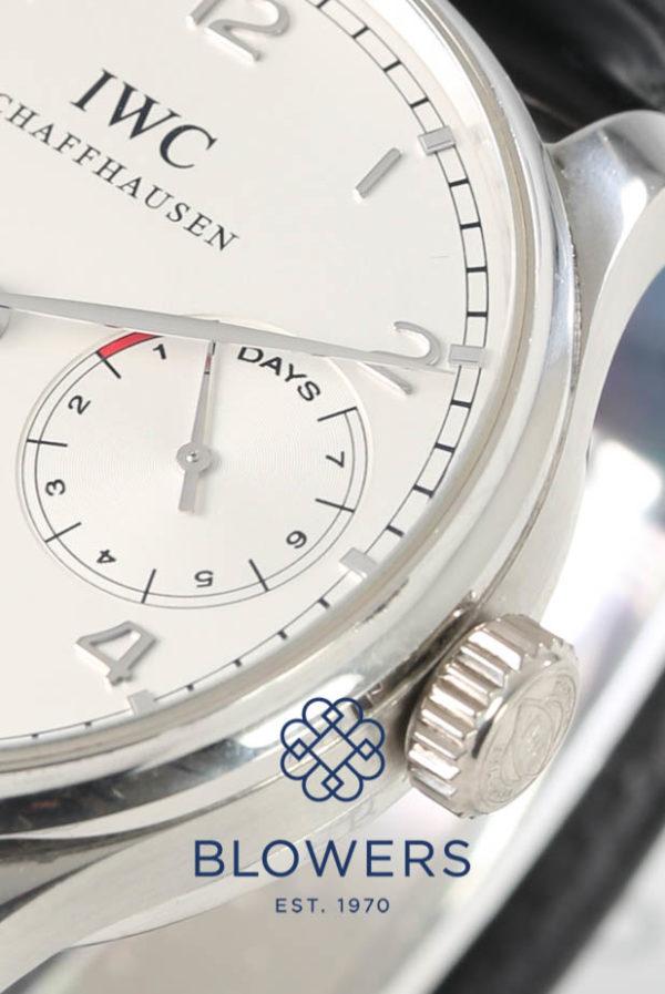 Platinum IWC Portuguese Automatic 7 day IW5001-04.