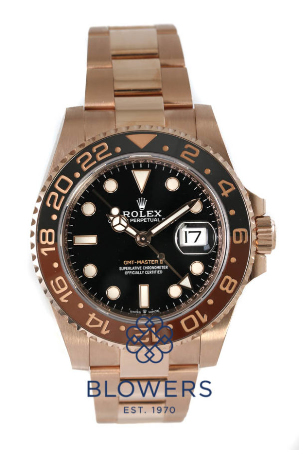 Rolex 18ct Rose Gold GMT-Master II model reference 126715CHNR