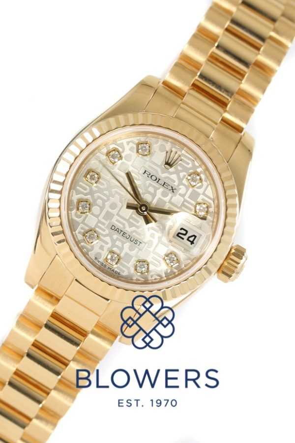 Rolex 18ct Yellow Gold Oyster Perpetual Datejust 179178