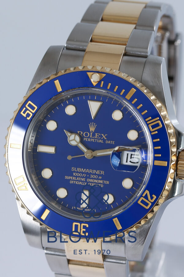 Rolex steel and yellow gold Submariner Date 116613LB